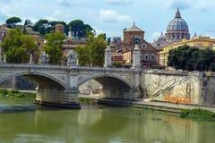 Vatikanstadt von Ponte Umberto I in Rom, Italien Lizenzfreie Stockfotografie