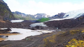 Vatna Glacier, the largest and the most voluminous ice cap in Iceland stock footage