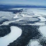 Vatnajökull - tiro aéreo imagens de stock