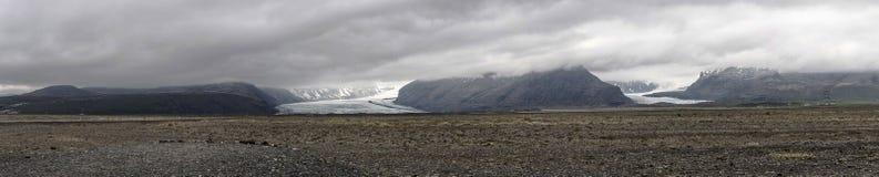 Vatnajökull vom Abstand panoramisch Lizenzfreie Stockbilder