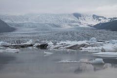 Vatnajökull glaciär Arkivfoto