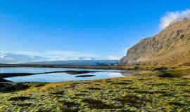 Vatnajökull lodowa krajobraz zdjęcia stock