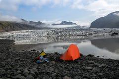 Vatnajokull冰川 库存照片