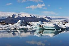 is- vatnajokull för iceland jokulsarlonlagun arkivfoton