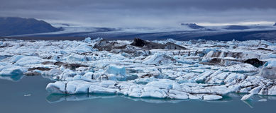 is- vatnajokull för iceland jokulsarlonlagun arkivfoto