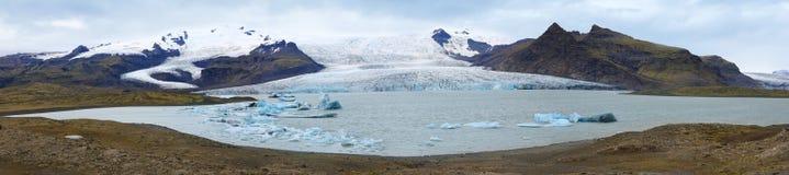 Vatnajokull glaciär i Island Arkivfoton