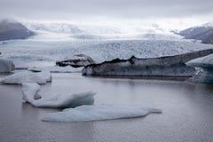 Vatnajokull glaciär i Island Royaltyfria Foton