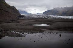 Vatnajokull glaciär i Island Arkivfoto