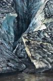 Vatnajokull glacier detail covered with volcanic ash is melting Stock Image