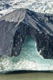 Vatnajokull glacier detail covered with volcanic ash is melting Stock Images