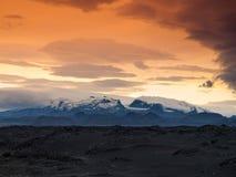 Vatnajokull Glacier evening scenery Royalty Free Stock Photos