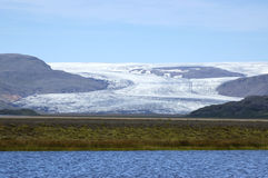 Vatnajokull glacier in Iceland. Royalty Free Stock Images