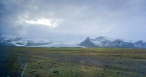 Vatnajokull glacier Iceland far view from road trip Royalty Free Stock Image