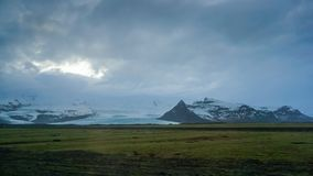 Vatnajokull glacier Iceland far view from road trip Royalty Free Stock Photography