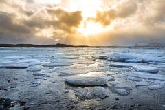 Vatnajokull Glacier Iceland Stock Image