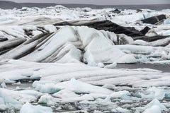 Vatnajokull glacier Iceland. Jokulsarlon Lagoon at the end of the Vatnajokull Glacier Iceland Stock Images