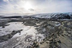 The Vatnajokull Glacier in Iceland Royalty Free Stock Photo