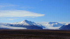 Vatnajokull glacier mountain in east Iceland Royalty Free Stock Photos