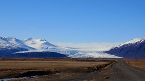 Vatnajokull glacier mountain in east Iceland Royalty Free Stock Image