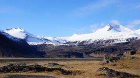 Vatnajokull glacier mountains in east Iceland Stock Images