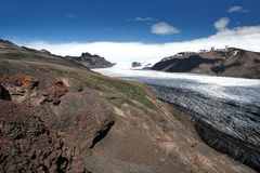 Vatnajokull Gletscher Lizenzfreies Stockfoto
