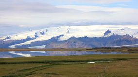 Vatnajokull-Gletscher in Island stock video