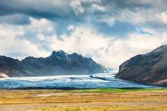 Vatnajokull-Gletscher, Süd-Island lizenzfreie stockbilder