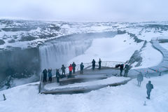 Dettifoss is a waterfall in Vatnajokull National Park in Northeast Iceland