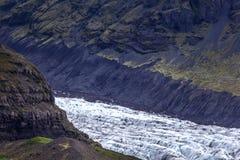 Vatnajokull lodowiec Iceland fotografia stock
