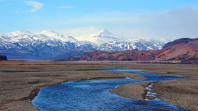 Vatnajokull mountains in east fjords in Iceland Royalty Free Stock Image