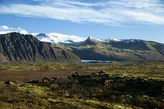 Vatnajokull no parque de Skaftafell fotografia de stock