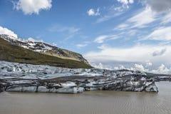 Vatnajokullgletsjer IJsland Stock Foto