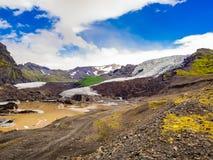 Vatnajokullgletsjer lanscape bij het Nationale Park van Vatnajokull Stock Afbeelding
