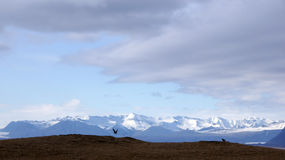 Vatnajokull mountain range from Ingolfshofdi on Iceland Royalty Free Stock Photo