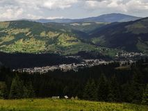 Vatra Dornei, отключение горы Стоковая Фотография