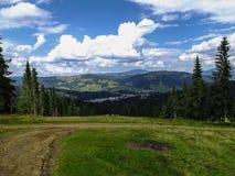 Vatra Dornei, отключение горы Стоковое Изображение RF