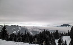 Vatra Dornei, voyage de montagne Photos stock