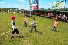 Vatra, Moldova. June 28, 2015. Medieval Festival. Spectators are Royalty Free Stock Image