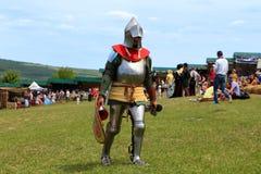 Vatra, Moldova. June 28, 2015. Medieval Festival. Unknown partic Stock Photos