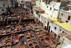 Vats in Fez, morocco Royalty Free Stock Image