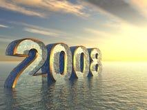 vatten 2008 3d Fotografering för Bildbyråer
