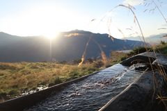 Vatten av berget Royaltyfri Fotografi