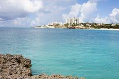 Vatten av St Martin /St. Maarten Royaltyfri Bild