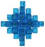 Vatten Crystal Cubes Arkivfoton