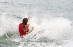 vatten för 2 skier royaltyfri fotografi