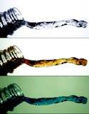 vatten för 4 färgstänk royaltyfria foton
