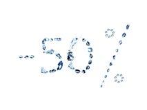 vatten för 50 bubblor Arkivfoto