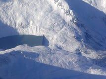 vatten för alpsfördämningmountainpeaks Royaltyfri Fotografi