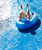 vatten för aquaparkbarnglidbana royaltyfria bilder