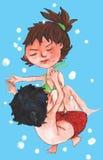 vatten för barn två vektor illustrationer